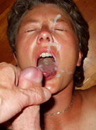Naughty wives and fuckable moms love big cumshots