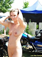 sexy babe ally naked on public streets