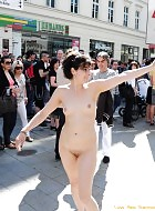 hot babe miriam nude on public streets